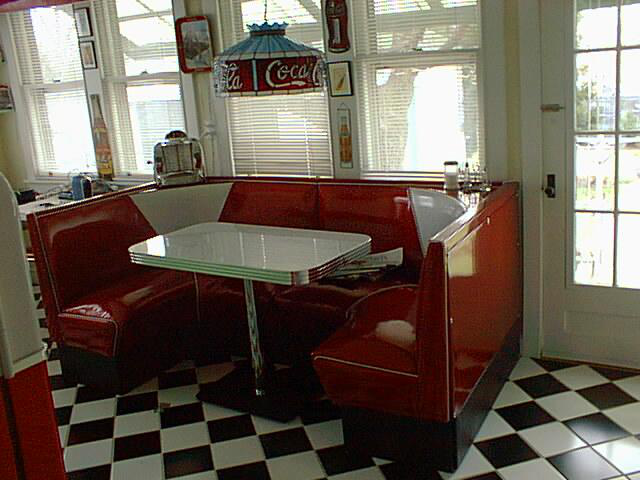 retro dining set with booth collections