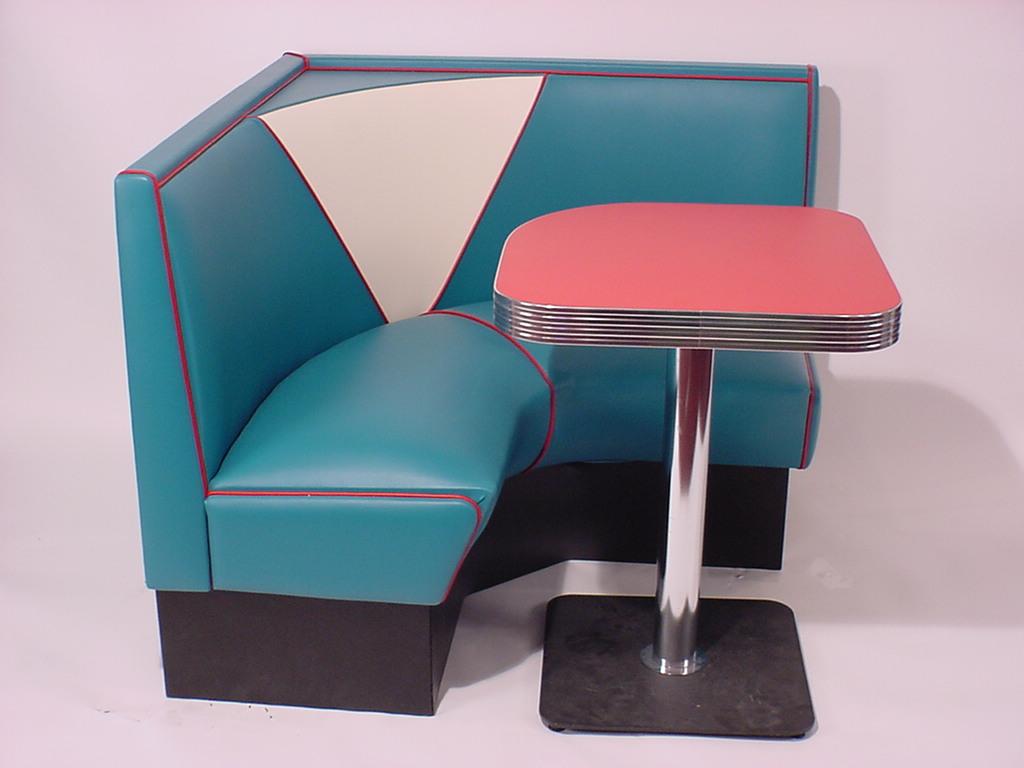 Half Circle Booths: Restaurant, Diner, Retro, 1950's, Kitchen