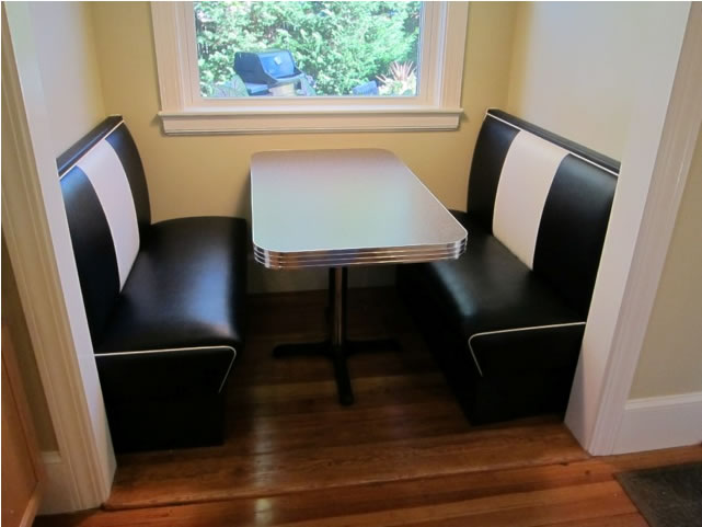Kitchen nook seating diner booth retro table - Kitchen table booth seating ...